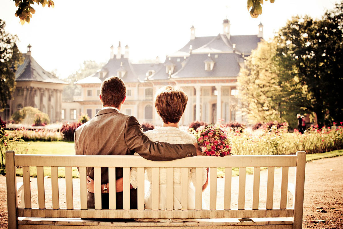 Couple longing dream home